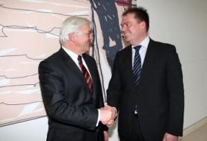Bürgermeister Matthias Döhla mit Frank-Walter Steinmeier