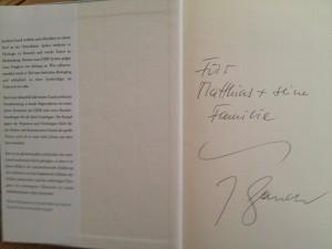 Persönliche Widmung von Joachim Gauck