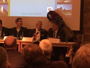 v.l.: Staatsminister Dr. Markus Söder, Landrat Johann Kalb (Landkreis Bamberg), Landrat Klaus-Peter Söllner (Landkreis Kulmbach)