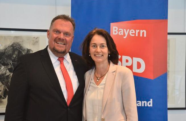 Matthias Döhla mit Katarina Barley